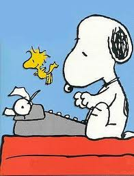 snoopy writing a book