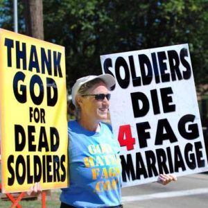 Westboro fan protests